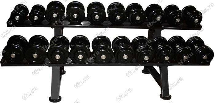 Гантельный ряд от 6 до 24 кг обрезиненный ivanko rub-epr 6-24 / 10 пар